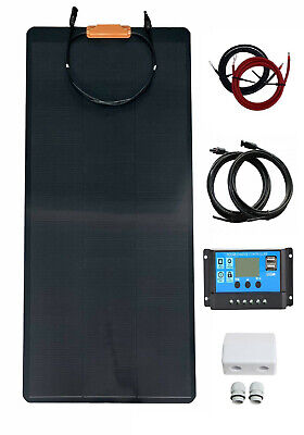 £179.99 • Buy 150W TPT Flexible Solar Panel Kit  20A LCD Charger Controller Motorhome  Mono