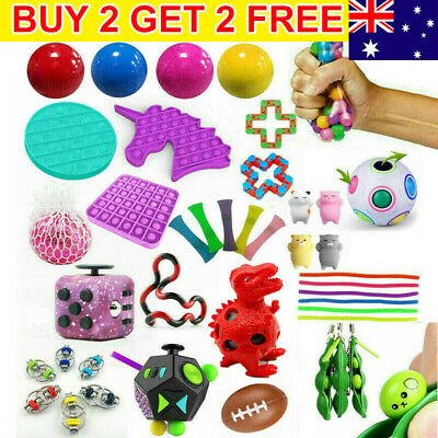 AU14.88 • Buy Fidget Toys Set Sensory Tools Bundle Stress Relief Hand Kids Adults ADHD Toy HOT