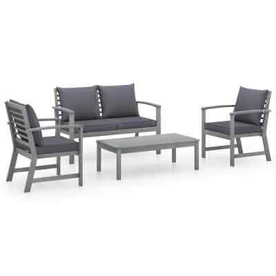 AU492.99 • Buy VidaXL Solid Acacia Wood Garden Lounge Set With Cushions 4 Piece Furniture