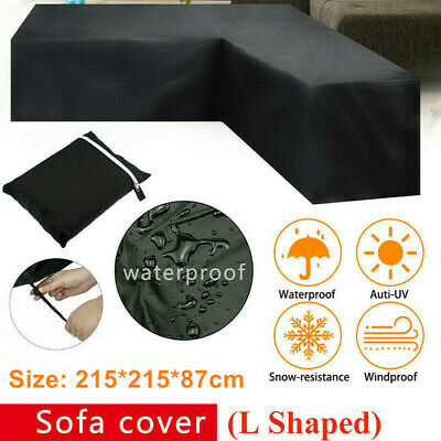 AU32.99 • Buy L Shape Outdoor Furniture Cover Sofa Lounge Seat Couch Cover Garden Waterproof