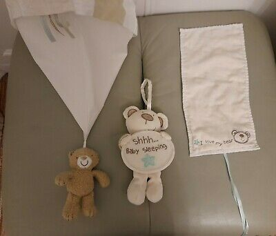 I Love My Bear  Baby Nursery Accessory Bundle - Lampshade, Door Hanger, Pouch • 5£