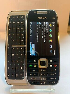 £49.99 • Buy Nokia E75 - Silver Black (Unlocked) Smartphone Mobile QWERTY - V Good Condition