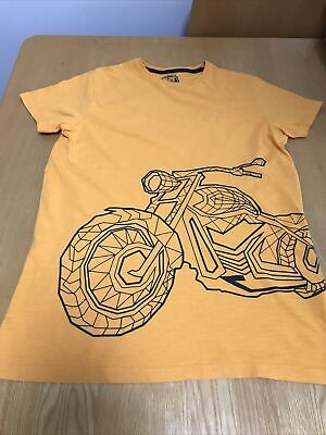 BLUE ZOO Debenhams Boys T-Shirt Bike Print Age  • 4£