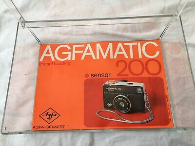 £10 • Buy Agfamatic Vintage Camera, Sensor 200, & Case & Box & Instructions- For Charity