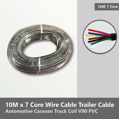 AU24.15 • Buy 10M X 7 Core Wire Cable Trailer Cable Automotive Caravan Truck Coil V90 PVC