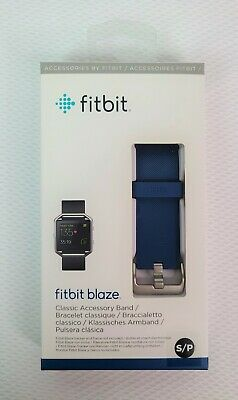 $ CDN22.72 • Buy NEW AUTHENTIC OEM Fitbit Blaze Wrist Watch Band Silicone Strap Blue SMALL