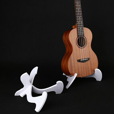 AU11.18 • Buy Foldable Ukulele Stand Hardwood Guitar Bass Violin Mandolin Banjo Holder_Q C WH