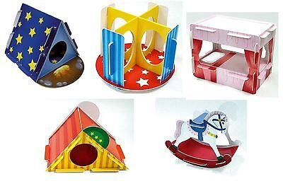 £2.48 • Buy Play N Chew Cardboard Toy / Den. Hamster Gerbil Mouse, Tent Slide Bed Horse