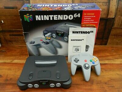 AU231.36 • Buy Nintendo 64 Console - Grey - Boxed And Complete