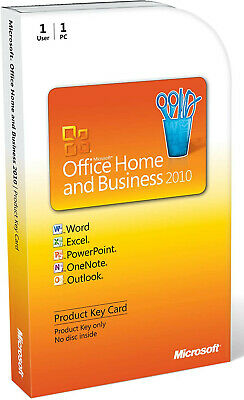 £89 • Buy Genuine Microsoft Office Home And Business 2010, 1 User [Product Key Card] PC