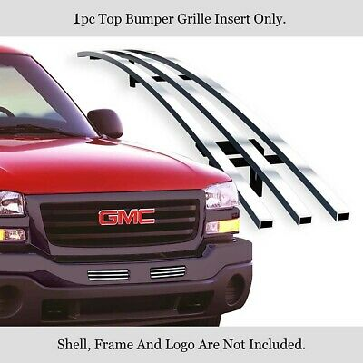 $49 • Buy Fits 2003-2006 GMC Sierra 1500/2500HD/3500 Stainless Bumper Chrome Billet Grille