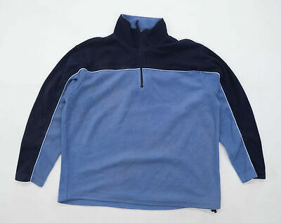 Peter Storm Mens Size 2XL Fleece Striped Blue Jacket • 8£