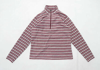 Craghoppers Womens Size 10 Fleece Striped Pink Jacket • 10£