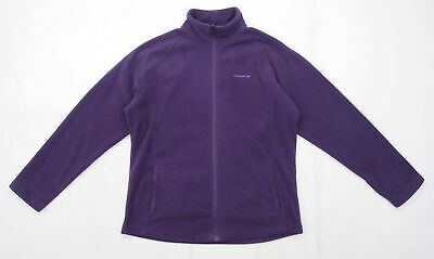 Craghoppers Womens Size 12 Fleece Purple Zip Up Jacket • 10£