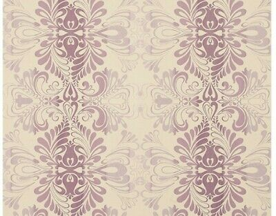 Laura Ashley Fitzroy Amethyst Wallpaper Damask Price Per Roll *different Batches • 19.99£