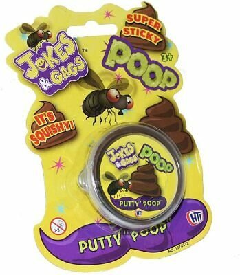 AU6.11 • Buy Jokes And Gags Squishy Super Sticky Brown Poo Putty Slime Stocking Filler Gift