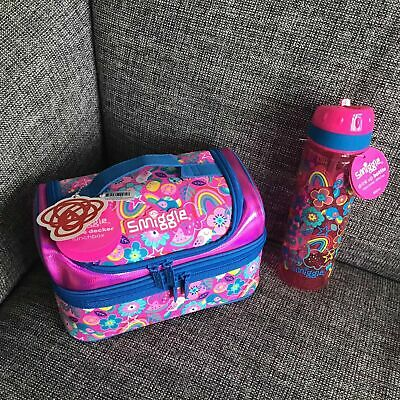 $ CDN47.61 • Buy Girls Smiggle Flow Pink Double Decker Sandwich Lunch Bag Box Water Drinks Bottle