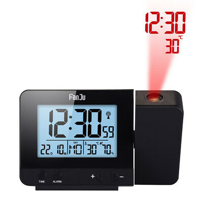 AU23.99 • Buy LED Digital Alarm Clock Projection LCD Display Time Temperature Projector Snooze