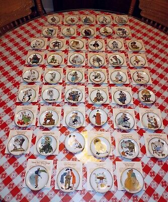 $ CDN62.77 • Buy Complete 1983 Set Of 50 The Best Of Norman Rockwell Miniature Plates