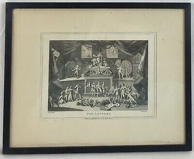 £74.50 • Buy Antique Etching 'The Lottery', William HOGARTH,1808