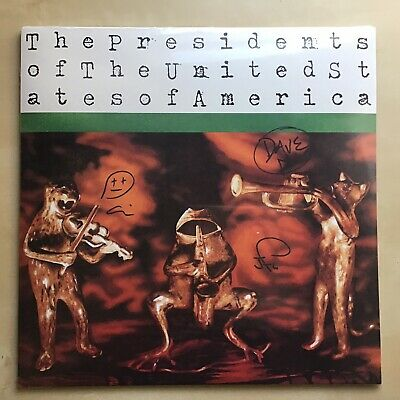 Presidents Of The United States Of America *Signed* Green Splatter Vinyl LP • 143.37£