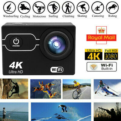 4K Sports Action Camera Ultra HD 16MP WiFi Waterproof Underwater For Go Pro UK • 16.98£