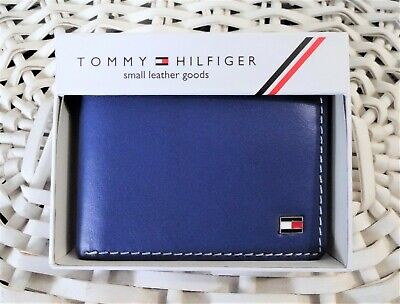 £18.99 • Buy Men's Leather Wallet 'Tommy Hilfiger' Bifold, NAVY, Coin Pouch, MRP $60.00,SALE