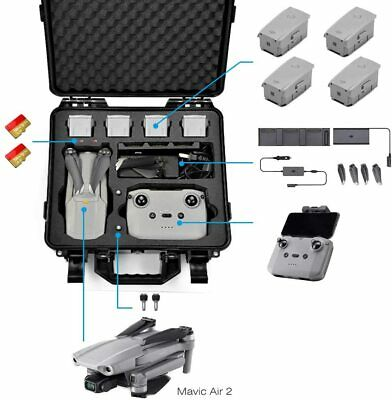 AU114.50 • Buy Carrying Case For DJI Mavic Air 2 Fly More Combo - Drone Quadcopter Accessories