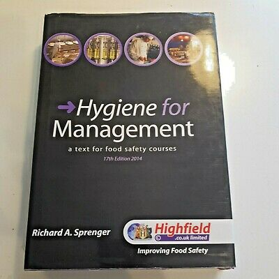 £14.95 • Buy Hygiene For Management By Richard Sprenger Text Book For Food Hygiene Courses