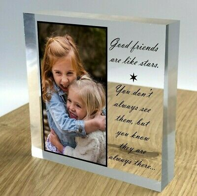 £14.95 • Buy Personalised Block Plaque Photo 3D Effect 2021 Picture Frame Wedding Family Gift