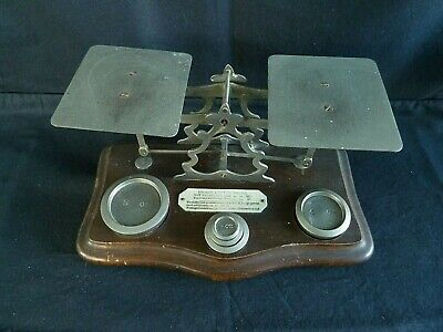 £39.99 • Buy Antique Victorian Post Office Letter Scales Original Weights 1885 - 1897