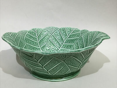 £49.95 • Buy Vintage Sylvac Pottery Cabbage Leaf Large Fruit Bowl