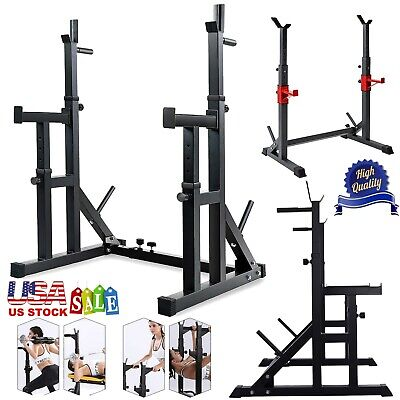 $ CDN220.74 • Buy Multi-Function Squat Rack Weight Lifting Barbell Stand Height Adjustable 550LBS
