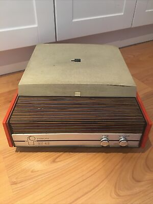 £45 • Buy Fidelity HF 43 Vintage Portable Record Player Orange - Not Working