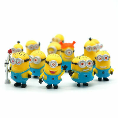 £7.99 • Buy 12 Pcs/Set Mini Minions 1.5  Pvc Figures Doll Toy Gift Decorations Cake Toppers