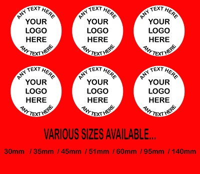 £5.99 • Buy Personalised Business Name Stickers Thank You Seals Your Logo Labels Address