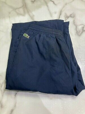 LACOSTE TRACKSUIT Bottoms JOGGERS JOGGING Cuffed Trousers Pants Blue Boys Size16 • 28£
