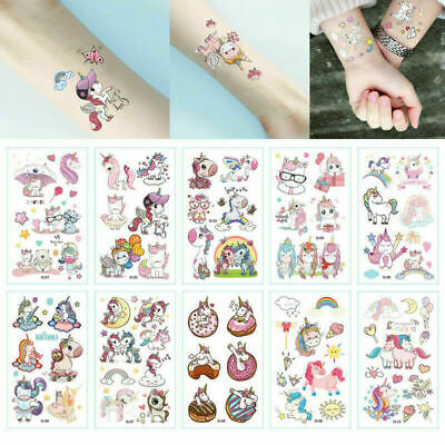 £2.02 • Buy 10SHEETs Kids Boys Girls Unicorn Temporary Tattoos Sticker Party Bag Fillers