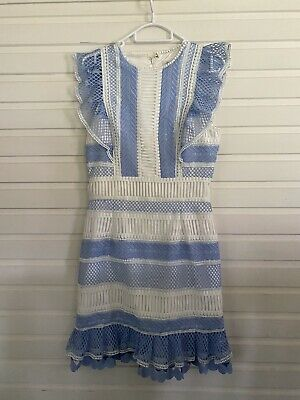AU47.95 • Buy Forever New Blue & White Premium Cocktail Dress Size 8