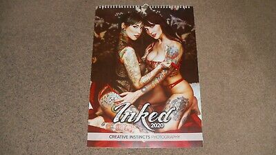 £14 • Buy Creative Instincts Photography Inked 2020 Calendar A3 Sexy Tattoo Glamour Used