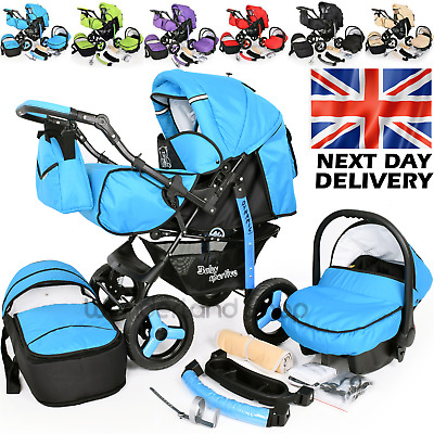 £225 • Buy Baby Buggy Colourful Pram Stroller Pushchair Car Seat Carrycot Travel System