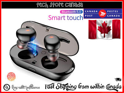 $ CDN22.99 • Buy TWS4 Bluetooth 5.0 Wireless Touch Earbuds Earphones With Charging Box Black