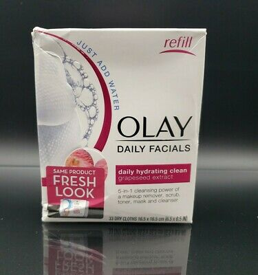 AU13.65 • Buy Olay Daily Facials 5-in-1 Daily Hydrating Clean W Grapeseed Extract-33 Cloths
