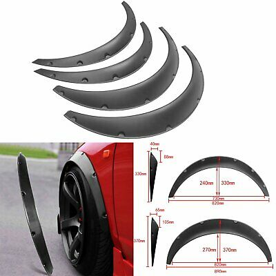 $27.72 • Buy 4x 820mm/890mm Universal Flexible Car Fender Flares Extra Wide Body Wheel Arches