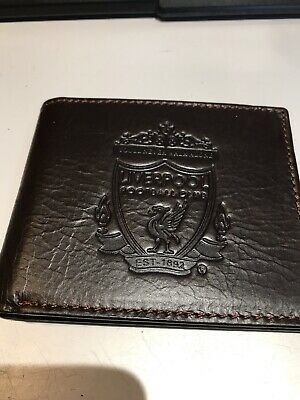Liverpool Fc Brown Leather Wallet Embossed Crest  • 10£