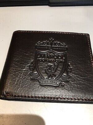 £10 • Buy Liverpool Fc Brown Leather Wallet Embossed Crest