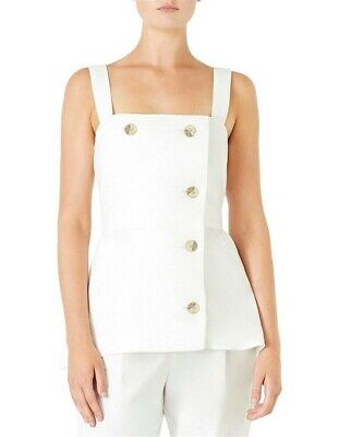 AU65 • Buy VIKTORIA & WOODS ILLUSTRATOR  IVORY TOP, Bamboo Blend Rrp $269 (size 0- AUS 6)