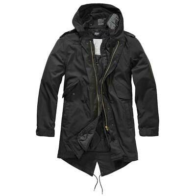 $97.90 • Buy BRANDIT M51 US FISHTAIL PARKA BLACK Military Warm Winter Quilted Lining Coat