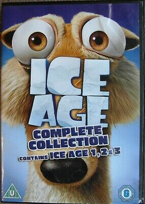 Ice Age 1, 2 & 3 Complete Collection DVD Box Set - Digital Copy • 2.99£