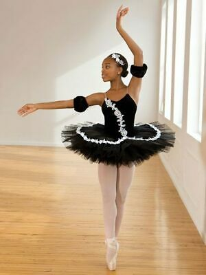 REVOLUTION GIRLS Ballet TUTU XLC Black Velvet Ivory Trim New In Costume Bag  • 32.99£
